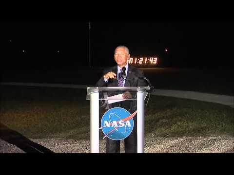 NASA ADMINISTRATOR TALKS WITH MEDIA AFTER SPACEX LAUNCH