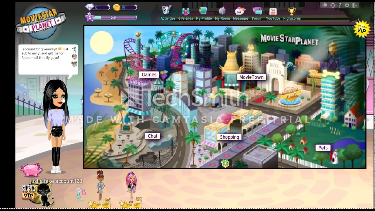 msp account giveaway with password