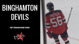 Vinnie Langdon: Binghamton Devils 1st Game Won!