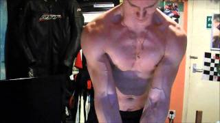 Ripped Shredded Muscle Guy - Measuring and Wet Flexing
