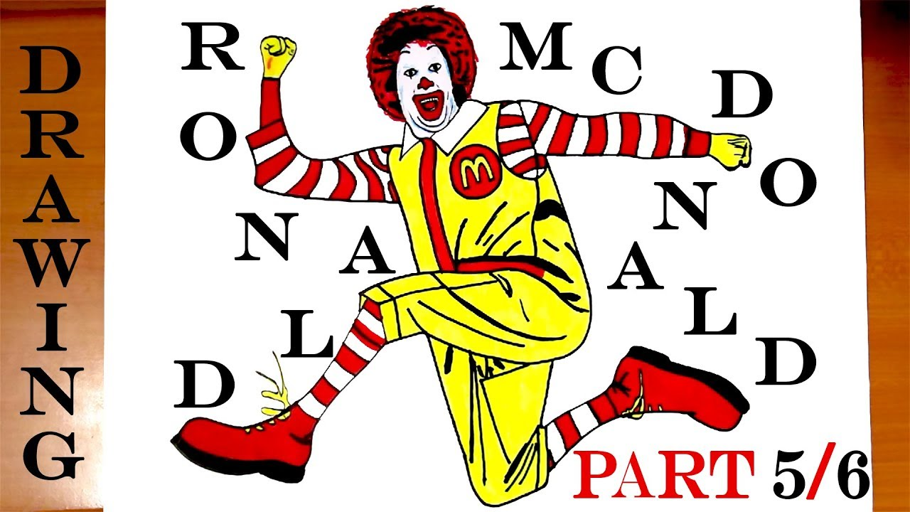 how to draw a clown step by step easy for kids mcdonald s ronald