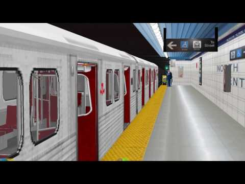 OpenBve TTC Line 1 Train to Downsview at North York Centre Station