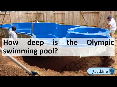 How deep is the Olympic swimming pool