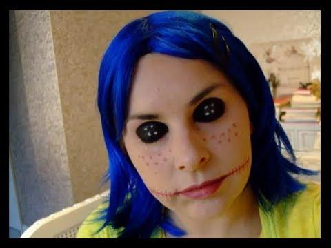 Halloween Make Up Look Coraline Creepy Doll Youtube