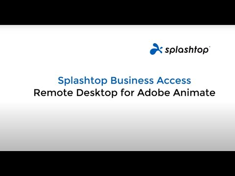 Using Remote Desktop for Adobe Animate