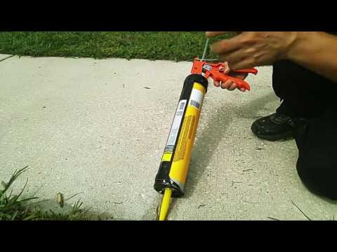 Removing Sidewalk Weeds and filling with epoxy