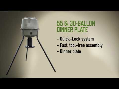Moultrie Dinner Plate Feeder & deer feeders tractor supply - video results