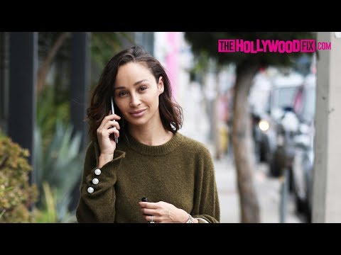 Cara Santana Chats On Her Phone While Out Shopping On Melrose Avenue 10.30.17