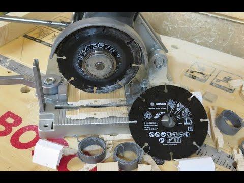 Безопасная резка дерева болгаркой (УШМ). Делаем из болгарки торцовку. Bosch Carbide Multi Wheel.