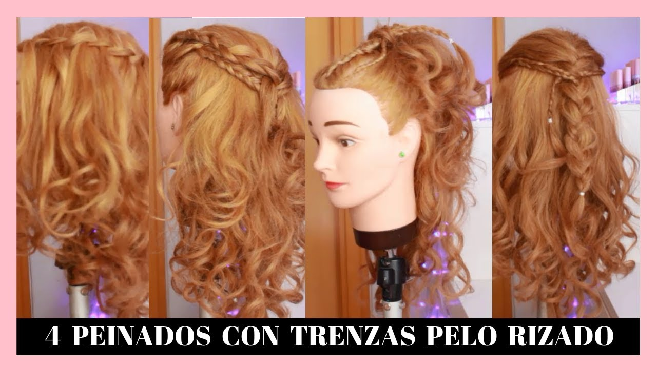 4 Peinados Faciles Con Trenzas Para Cabello Rizado