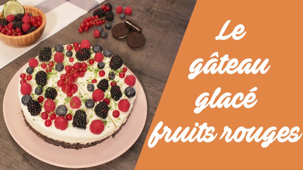 Gateau glace aux fruits
