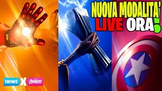 NOUVEAU PATCH UPDATE 8.50 FORTNITE LIVE ITA MODALITY AVENGERS