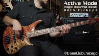 Roscoe Skb 4 Custom Ex Grade Bubinga Demo From Bass Club Chicago