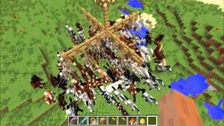 Największa szubienica z koni w Minecraft