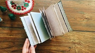 Last Minute DIY Christmas Gifts | DAY 12/12  | Easy No Sew Journal