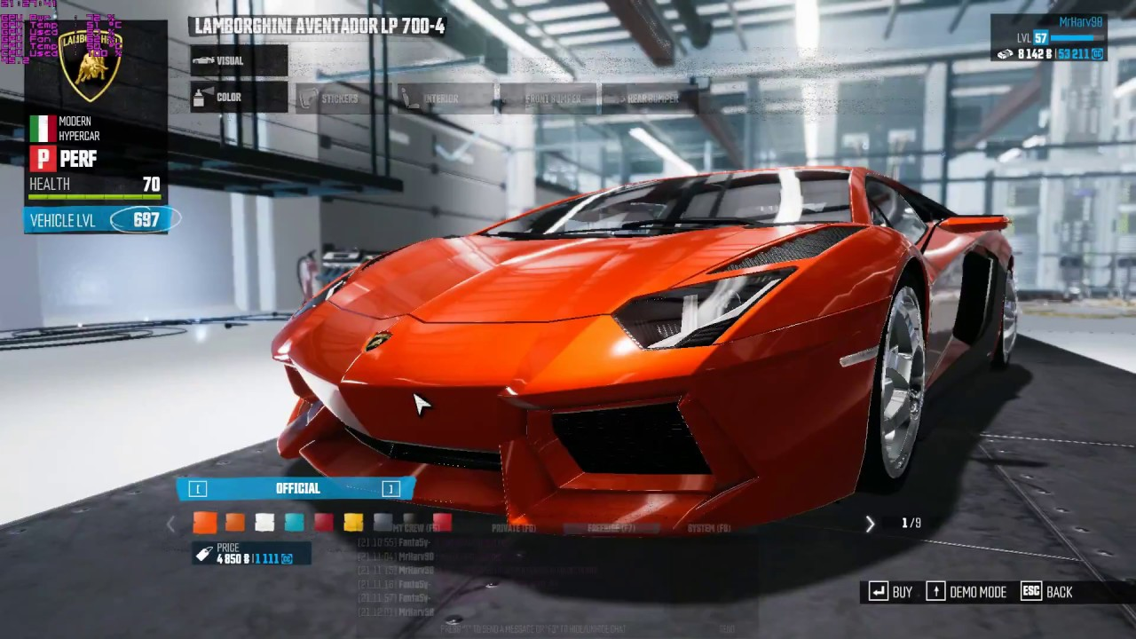 Buying A New Car In The Crew   Lamborghini Aventador