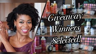 6 WINNERS SELECTED! - HUGE 100K Subscriber Giveaway Results - NaturalMe4C