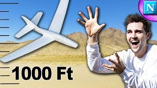 Catching A Foam Glider Dropped From 1000 Feet!