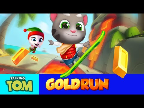 🌋 Huge Catapult Jumps in NEW WORLD 🌴 - Talking Tom Gold Run (Gameplay)