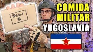 Probando COMIDA MILITAR de YUGOSLAVIA de 1990   MRE Yugoslavia   Curiosidades con Mike