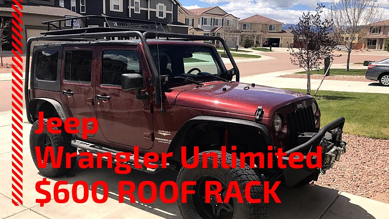 Jeep Jku Roof Rack >> Jeep Wrangler Jk Jku Roof Rack For 600 Youtube