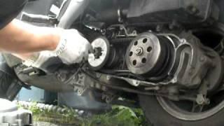 Drive belt and variator fan change.