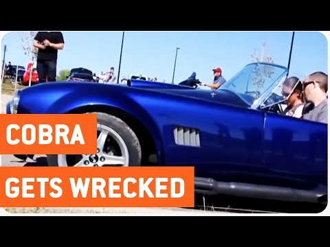 Driver Crashes Classic Car Into Curb | Shelby Cobra Wreck