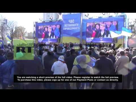 Ukraine: Presidential candidate Tymoshenko gives Kiev address