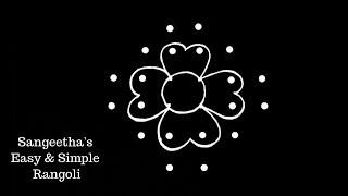Simple Rangoli Design with 6X2X2 Dots | Kolam Designs | Muggulu Designs | Rangoli Designs
