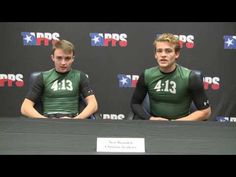 New Braunfels Christian Academy Football Pre-Game Press Conference Players