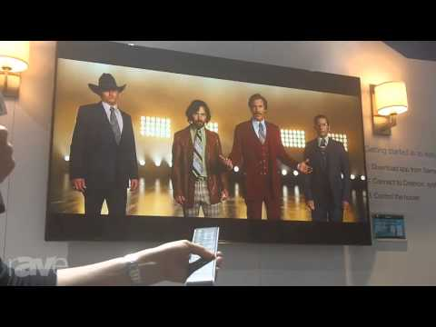 CEDIA 2013: Crestron Demonstrates the Crestron App for Samsung Smart TV