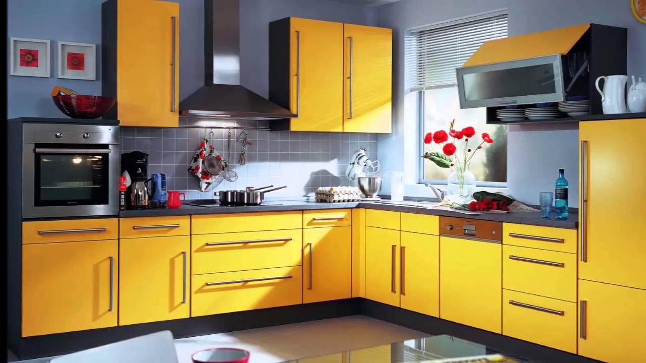 cocina amarilla youtube On muebles de cocina amarillos