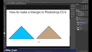 How to Make a Triangle in Photoshop CS6 Using the Shape Tool.