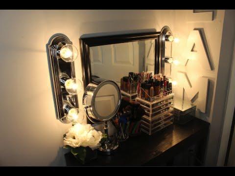 DIY: Makeup Hollywood Vanity Lights - YouTube