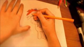 как нарисовать пони радугу(Как рисовать карандашом пони. В этом видео вы увидите как нарисовать пони Радугу, Rainbow Dash. Видео из серии:..., 2015-02-19T15:09:18.000Z)