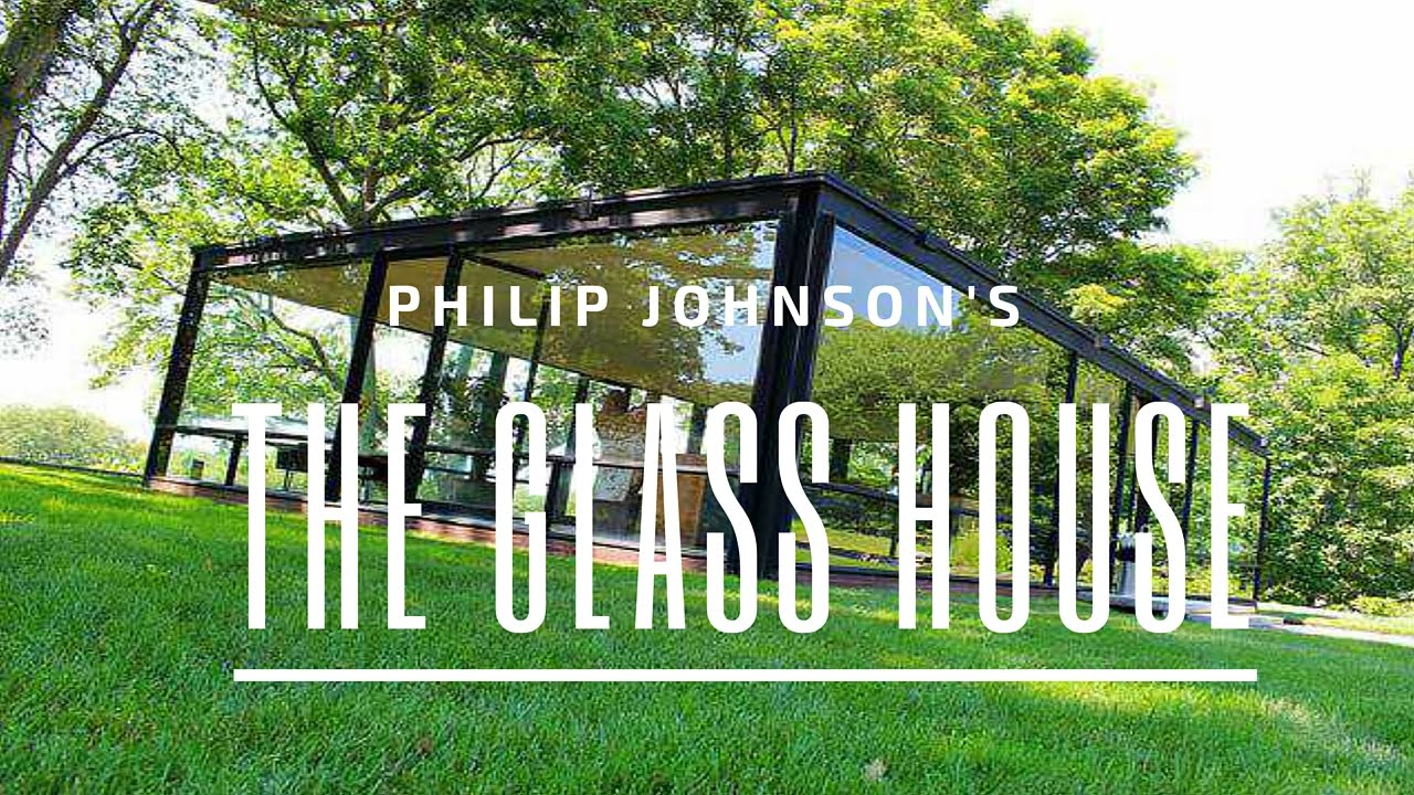 the glass house philip johnson youtube. Black Bedroom Furniture Sets. Home Design Ideas
