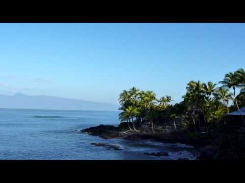 Beach scenery and sounds - Kahana Sunset Resort Maui (dawn #1)