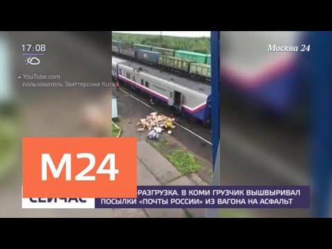 Почта России заявила, что не имеет отношения к неаккуратной разгрузке посылок в Коми - Москва 24