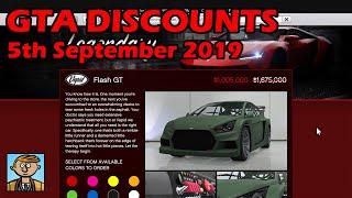 GTA Online Best Vehicle Discounts (5th September 2019) - GTA 5 Weekly Car Sales Guide #6