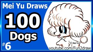 Cute Poodle Puppy - 100 Drawings Challenge - Mei Yu Draws 100 Dogs #6 - Fun2draw