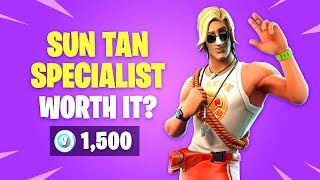 Is *NEW* SUN TAN SPECIALIST Skin Worth it? Fortnite Battle Royale Daily Items Update