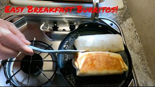 RV Camping - Breaĸfast Burritos - Easy to make! - Camping in Oregon