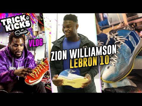 Zion Williamson Gets CUSTOM DUKE LEBRONS From Sierato! He Just Signed With JORDAN 😱