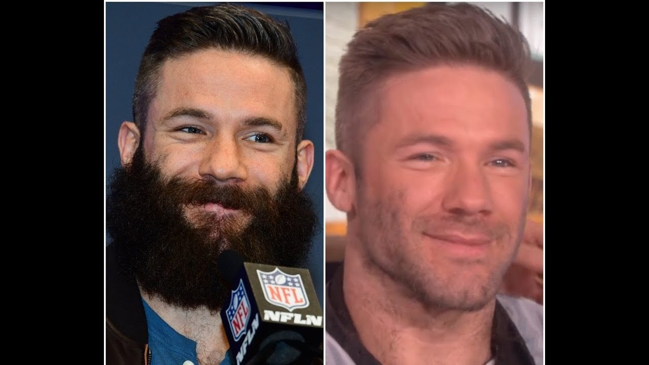 Julian Edelman has shaved off his giant beard and looks completely different