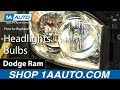 How to Install Replace Headlights Bulbs 2006-08 Dodge Ram