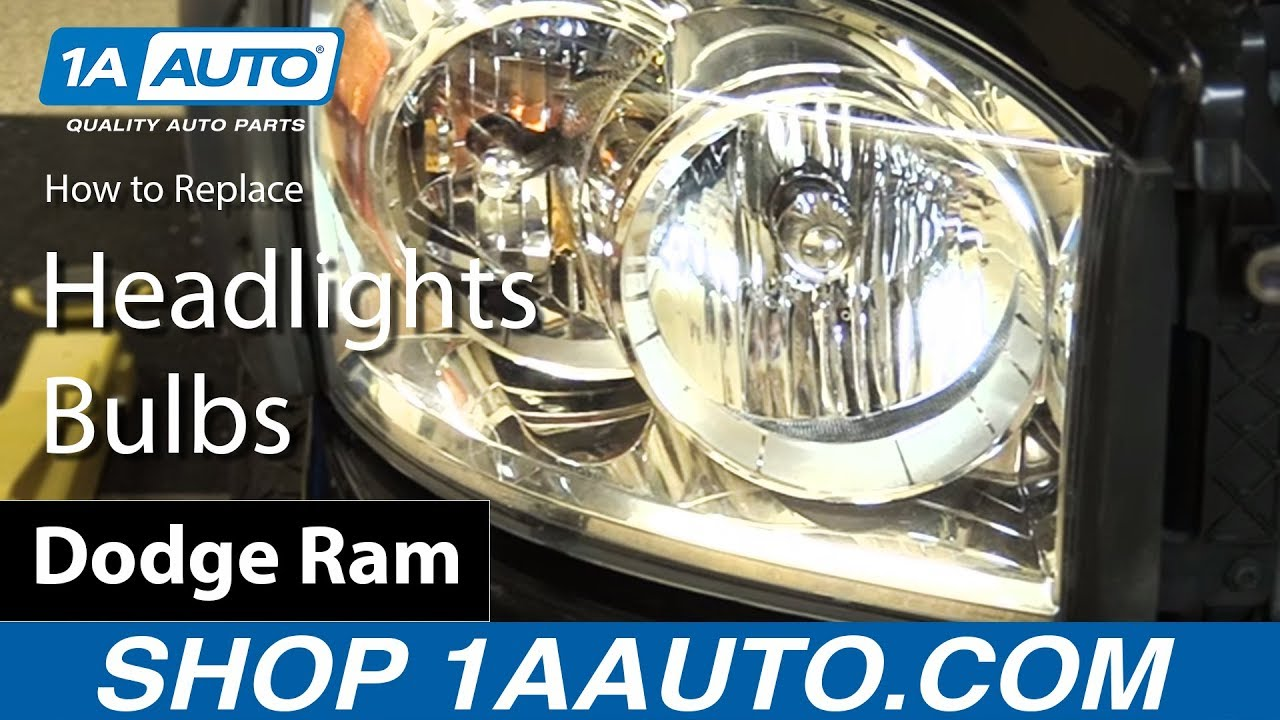 How To Replace Headlights Bulbs 06 08 Dodge Ram