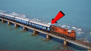 हिम्मत है तो इस VIDEO को देखे ,दुनिया  के 9 खतरनाक रेलवे ट्रैक // Railway Train Bridge Travel