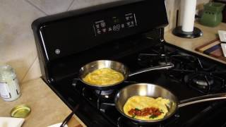 Cooking Omelets in Stainless Fry Pans