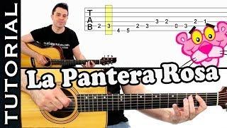 como tocar LA PANTERA ROSA en guitarra FACIL Principiantes y novatos acústica o criolla tutorial thumbnail