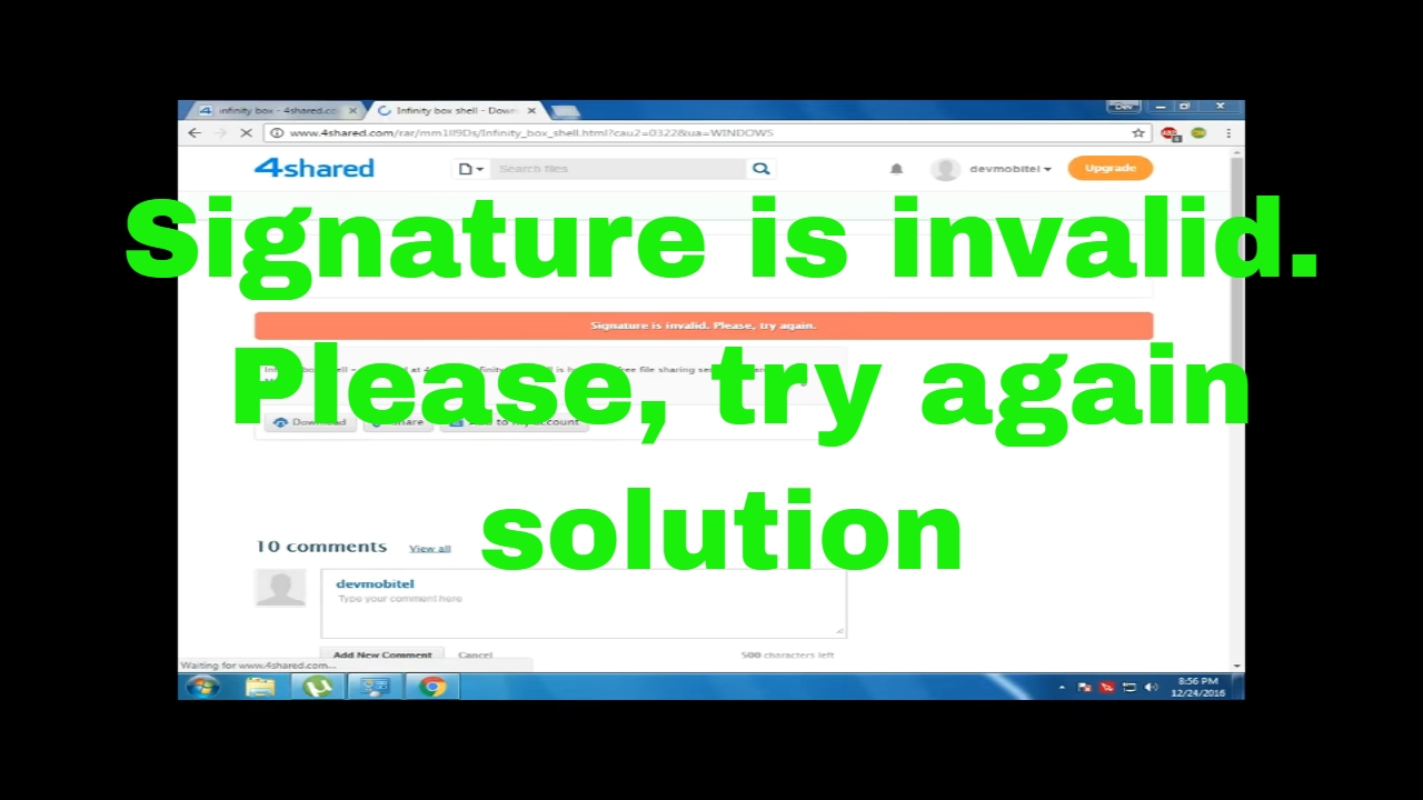 free youtube download signature problem 4003